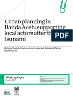 Urban Planning in Banda Aceh