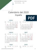 calendario españa 02020