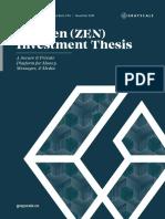 2018 Horizen Zen Investment Thesis