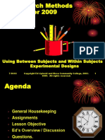 Research Methods Using Bwtn Within Designs