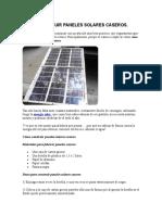 Paneles solares caseros