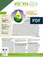 Bulletin de veille Horizons 2030-2050 n°3 de la Mission prospective