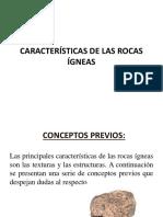 Cato v Características de Las Rocas Ígneas y Conceptos Previos 1