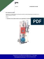 E19-066 Caldera Vertical a Gas de 15-20 BHP-convertido
