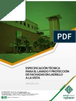 Especificacion Para El Lavado y Proteccio n de Fachadas Ladrillo