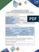 Guía de Actividades y Rúbrica de Evaluación - Fase 2. Resolver El Caso de Definición Del Plan Maestro de Producción PMP