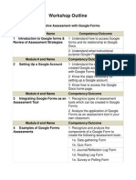 Formative Assessment With Google Forms Workshop Outline