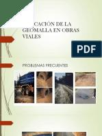 Aplicación de La Geomalla en Obras Viales