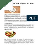 10 Tips Sehat Saat Berpuasa Di Bulan Ramadhan