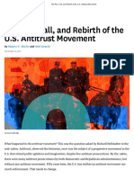 The Rise, Fall, And Rebirth of the U.S. Antitrust Movement