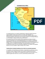 Ciudades en El Peru
