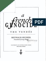A french genocide. The Vendée - Reynald Secher