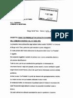 Lettera Al Comune Borgotaro 3 Set 2008