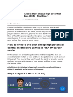 FIFA 19 Career Mode Best Cheap High Potential Central Midfielders (CM) - RealSport