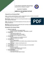 Fundamentals of Nursing Outline