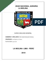 Universidad Nacional Agraria Biologia General