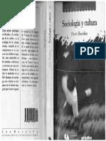 sociologia y cultura