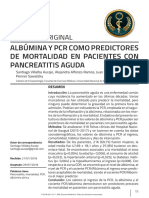 ALBÚMINA Y PCR COMO PREDICTOES DE MORTALIDAD EN PANCREATITIS AGUDA