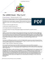 The ADDIE Model Why Use It