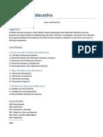 2011 Planeación Educativa
