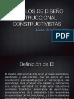2014 Modelos de Diseño Instruccional Constructivistas