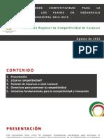 Lineamientos Sobre Competitividad 2015
