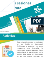 """Actividad Interactiva """"Creando Sesiones Collaborate"""""""