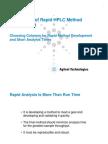 Microsoft Power Point - Rapid HPLC Method Development