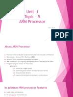Unit -I_ARM Processor_Dr. M. R. Arun