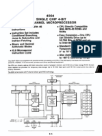 Intel 4004 microprocessor datasheet