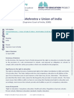 RTE Avinash Mehrotra v Union of India & Other 2017 en 0