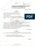 EC09 703 Analog and Mixed MOS Circuits NOV 2014