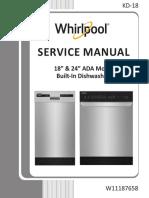 Manual de servicio lavavajillas Whirpool w11187658