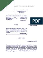 Malayang Manggagawa Sa ESSO (PFPW) vs. ESSO Standard Eastern, Inc., G.R. No. L-24224, July 30, 1965