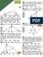 Angulos Formado Por Lineas Notables en Los Triangulos