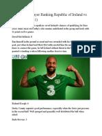 Euro 2020 - Player Ranking Republic of Ireland vs Switzerland (1-1)