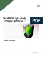 Db2 Hadr Choices 2013