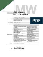 BMW (G20 )3 Series - 320i Luxury Line