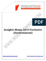 Insights Mains 2019 Exclusive Environment