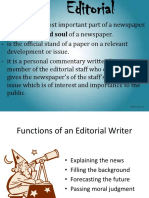 Editorial lecture