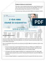 Mbbs Course in Kazakhstan