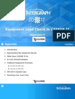 CAUx 2017 - Equipment Checks in CAESAR II