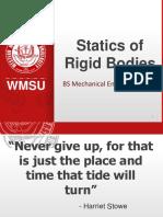 Static  of rigid bodies