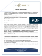 CP Iuris - PROCESSO PENAL I - Questoes Comentadas