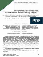 En torno a los conceptos de Protoauriñaciense, de Auriñaciense arcaico, Inicial y Antiguo