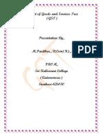 GST Paper Presentation