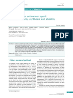 [Open Medicine] Paclitaxel as an Anticancer Agent Isolation Activity Synthesis and Stability