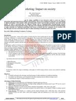 Documentation of Online Marketing