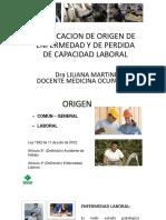 CALIFICACION DE ORIGEN DE ENFERMEDAD