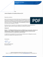 Carta Delegados Asamblea 2019